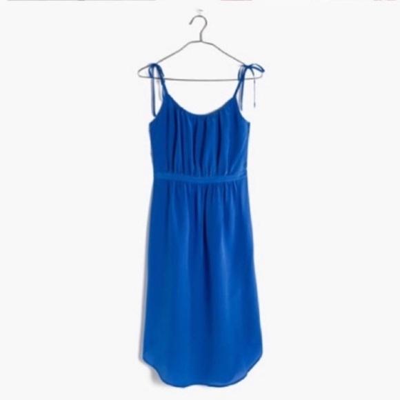 Madewell Dresses & Skirts - Madewell Blue 100% Silk Skyway Cami Dress